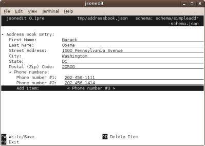 Simple Address Entry in jsonwidget-python